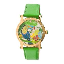 Women's Bertha Gisele BR4403 Watch Green Leather/Multicolored