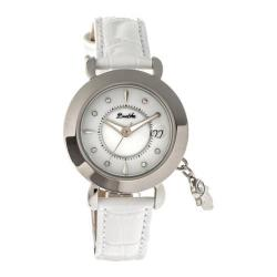 Women's Bertha Hannah BR5603 Watch White Leather/White