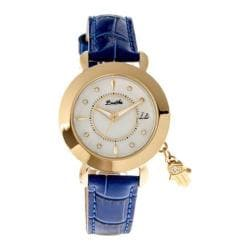 Women's Bertha Hannah BR5604 Watch Blue Leather/White