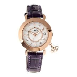 Women's Bertha Iris BR5303 Watch Plum Leather/White
