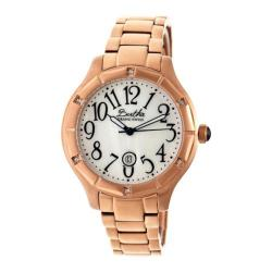Women's Bertha Jaclyn BR4805 Watch Rose Gold Stainless Steel/White