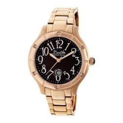 Women's Bertha Jaclyn BR4806 Watch Rose Gold Stainless Steel/Black