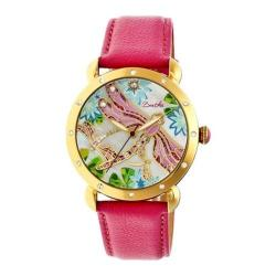 Women's Bertha Jennifer BR5004 Watch Hot Pink Leather/Multicolored