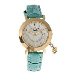 Women's Bertha Rose BR5504 Watch Turquoise Leather/White