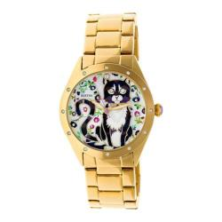 Women's Bertha Selina BR6102 Watch Gold Stainless Steel/Multicolored