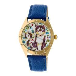Women's Bertha Selina BR6105 Watch Blue Leather/Multicolored