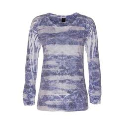 Women's Ojai Clothing Burnout L/S Crewneck Deep Navy Ethnic Beat