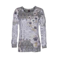 Women's Ojai Clothing Burnout L/S Crewneck Moss