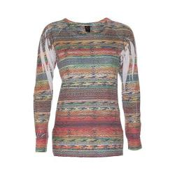 Women's Ojai Clothing Burnout L/S Crewneck Persimmon Dance