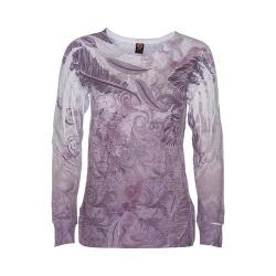 Women's Ojai Clothing Burnout L/S Crewneck Plum
