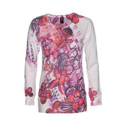 Women's Ojai Clothing Burnout L/S Crewneck Raspberry Sorbet Floral