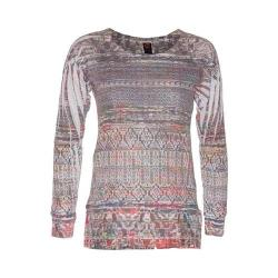 Women's Ojai Clothing Burnout L/S Crewneck Straw Tribal