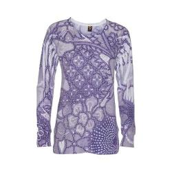 Women's Ojai Clothing Burnout L/S Crewneck Violet
