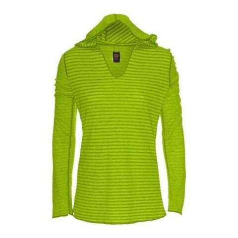 Women's Ojai Clothing Reversible Topa Hoody Lemongrass