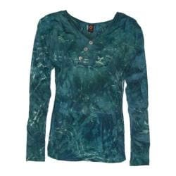 Women's Ojai Clothing Kangaroo Henley Shirt Deep Sea
