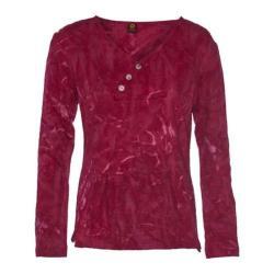 Women's Ojai Clothing Kangaroo Henley Shirt Earthy Red