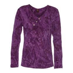 Women's Ojai Clothing Kangaroo Henley Shirt Plum
