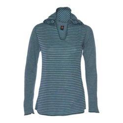 Women's Ojai Clothing Reversible Topa Hoody Deep Sea