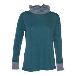 Women's Ojai Clothing Reversible Topa Krush Turtleneck Deep Sea