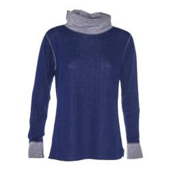 Women's Ojai Clothing Reversible Topa Krush Turtleneck Intense Blue