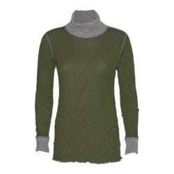 Women's Ojai Clothing Reversible Topa Krush Turtleneck Olive Ranch