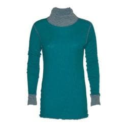 Women's Ojai Clothing Reversible Topa Krush Turtleneck Teal Blue