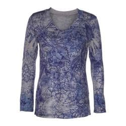 Women's Ojai Clothing Travel Classic V-Neck Intense Blue