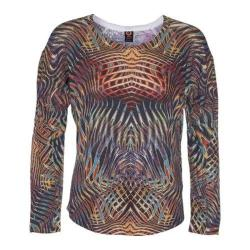 Women's Ojai Clothing Travel Relaxed Crewneck Multi Flames