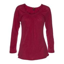 Women's Ojai Clothing Yoga Fitted Cross-Over Top Earthy Red