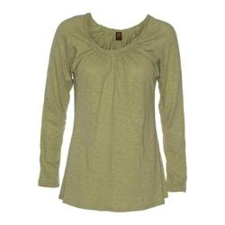 Women's Ojai Clothing Yoga Fitted Cross-Over Top Sulfur
