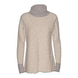 Women's Ojai Clothing Yoga Turtleneck Chalk