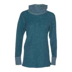 Women's Ojai Clothing Yoga Turtleneck Deep Sea