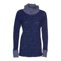 Women's Ojai Clothing Yoga Turtleneck Intense Blue
