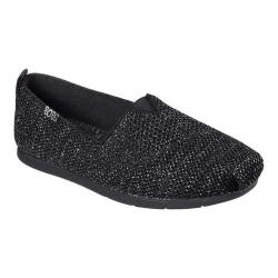 Women's Skechers BOBS Plush Lite Flash Lite Alpargata Black