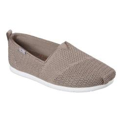 Women's Skechers BOBS Plush Lite Flash Lite Alpargata Taupe