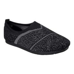 Women's Skechers BOBS Plush Lite Sox Hop Slip-On Black/Gray