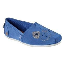 Women's Skechers BOBS Plush See Spot Run Alpargata Blue