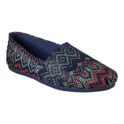 Women's Skechers BOBS Plush Urban Gypsy Alpargata Navy/Multi