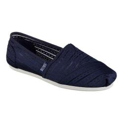 Women's Skechers BOBS Plush Urban Rose Alpargata Navy