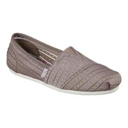 Women's Skechers BOBS Plush Urban Rose Alpargata Taupe
