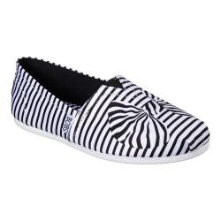Women's Skechers BOBS Plush Wrapped Up Alpargata White/Black