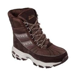 Women's Skechers D'Lites Chateau Cold Weather Boot Chocolate