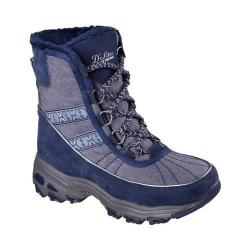 Women's Skechers D'Lites Chateau Cold Weather Boot Navy