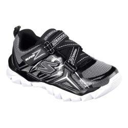 Boys' Skechers Electronz Z Strap Sneaker Black/Silver