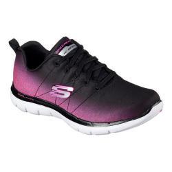 Women's Skechers Flex Appeal 2.0 Ombre Training Sneaker Black/Hot Pink