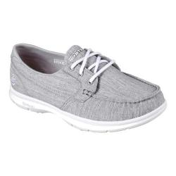Women's Skechers GO STEP Marina Boat Shoe Gray