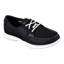 Women's Skechers GO STEP Riptide Boat Shoe Black/White