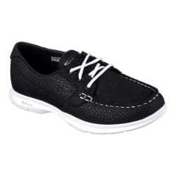 Womens Skechers Go Step Riptide Boat Shoe Blackwhite Overstockcom Shopping The Best Deals On Loafers