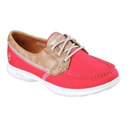Women's Skechers GO STEP Seashore Boat Shoe Red