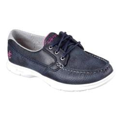 Women's Skechers GO STEP Shore Boat Shoe Navy/White
